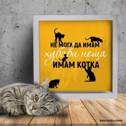 Забавна декорация: Не мога да имам хубави неща, защото имам котка