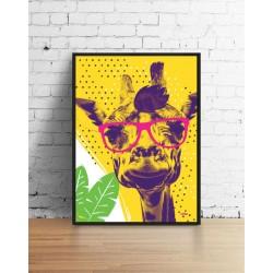 Парти жираф, декорация за стена в рамка