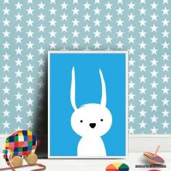 Зайченцето бяло като декорация за стена в детска стая