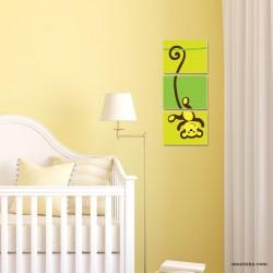 Декоративно пано с илюстрация маймунка за детска стая